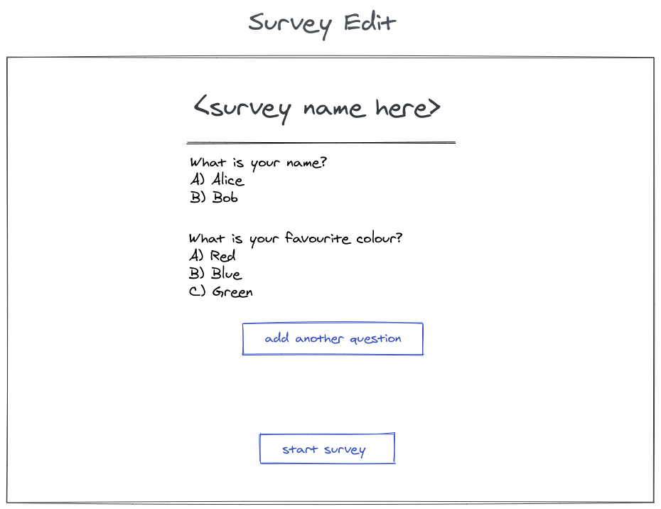 edit survey